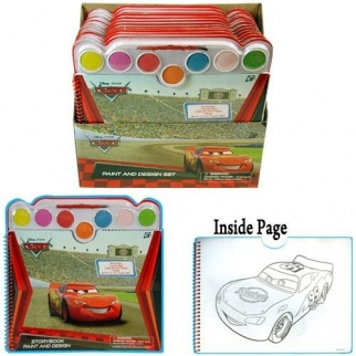 Disney Cars Paint & Design Coloring Book