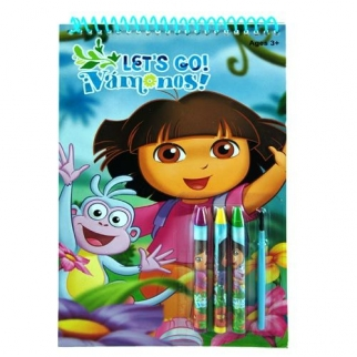 Dora the Explorer Spiral Activity Coloring and Paint Set