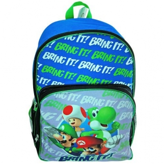 Mario Silk Printed Backpack