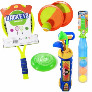 Kids Ultimate Outdoor Toys Sports Playset Baseball Golf Flying Disc & Tennis
