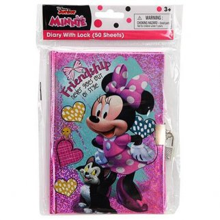 Disney Minnie Mouse Secret Diary Journal with Lock and Key