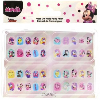 40 Piece Minnie Mouse Press On Nails Party Pack Dress Up