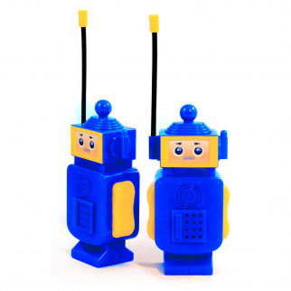Kids Robot Walkie Talkie Handheld Portable Electronic Two-Way Radio Toy Blue