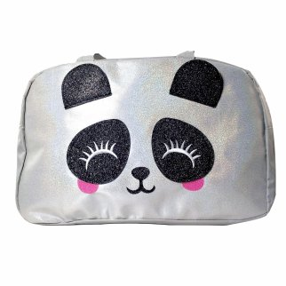 TychoTyke Holographic Panda Duffle Bag Girls Travel School Overnight Tote Bag