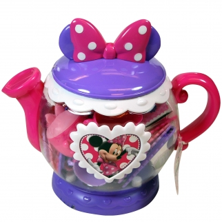 Disney Minnie Mouse Bowtique Teapot Tea Party Set