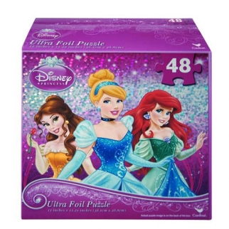 48pc Disney Princess Small Sparkling Jigsaw Puzzle