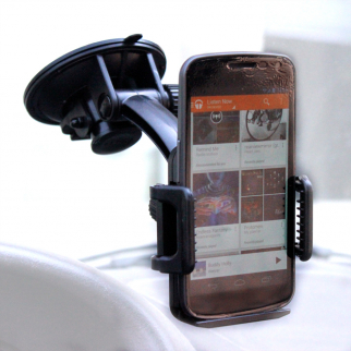 Heininger CommuteMate Smart Phone Hands Free Adjustable Suction Car Mount