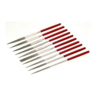 10pc Quality Diamond Coated File Set Assorted Shapes and Styles