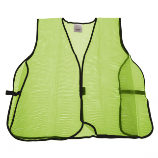 Universal Safety Vest High Visibility Lime Green Mesh Unisex One Size Fits All