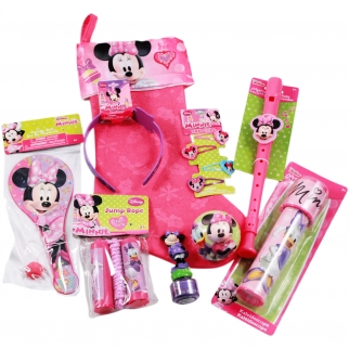 Disney Minnie Mouse 9 piece Kids Christmas Stocking Gift Set