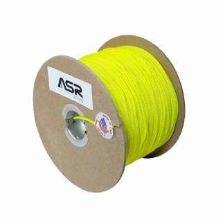 ASR Outdoor Cord 325lb Survival Sport Tactical Polyester Sleeved Rope - Yellow 25ft