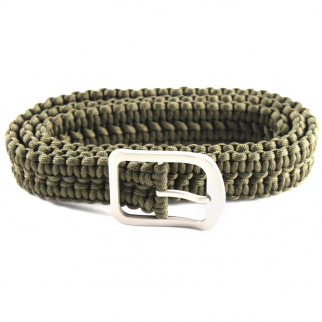 ASR Outdoor Milspec 550 Paracord Belt with Stainless Steel Buckle 52 Inch Green green paracord belt with steel buckle
