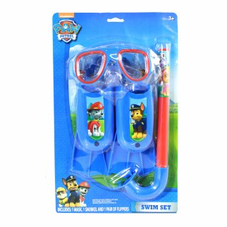 Nickelodeon Paw Patrol Swim Set 3 Piece Kids Snorkel Set