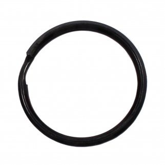 Zak Tool ZT35 1.5 inch Black Steel Circle Key Ring - 25 Pack