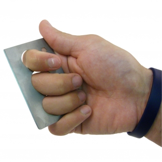 Titanium Charge Card Self Defense Personal Protection Tool in Action