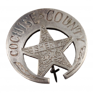 Replica Cochise County Sheriff Old West Badge