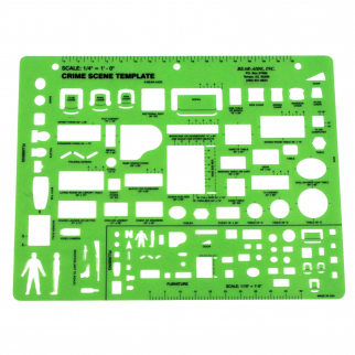 ASR Tactical Crime Scene Template Forensic Science Class Drawing Instrument