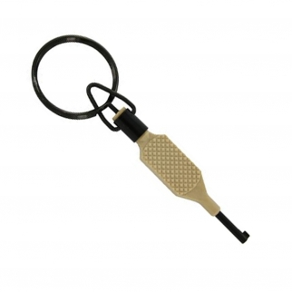 Zak Tool Tactical Knurled Flat Grip Polymer Tan Handcuff Key
