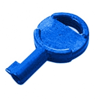 Blue non-metallic handcuff key