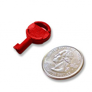 Non-Metallic Tactical Hide Out Handcuff Key - Red