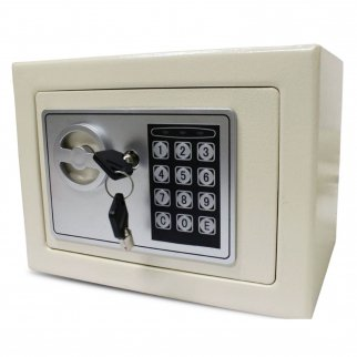 Steel Electronic Wall Mount Safe with Key and Keypad Lock