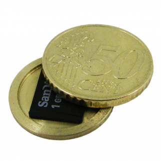 Covert Presidential Spy Coin Secret Compartment Diversion Safe (Euro 50 Cent)