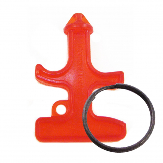 Self Defense Key Chain Stinger Red