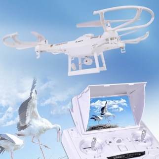 2.4 GHz 6-Axis Gyro 5.8 GHz Video Transmission White Quadcopter RC HD Video Drone Lifestyle