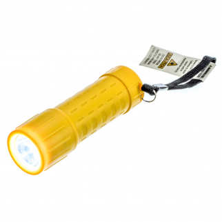 ASR Outdoor Mini Plastic Key Chain Sized Emergency Flashlight w/ Lanyard Yellow