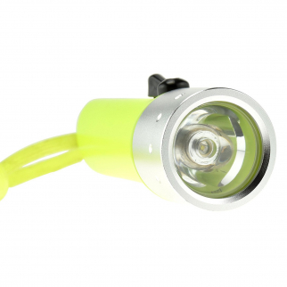 ASR Outdoor 3 Watt Neon Yellow Diving Flashlight Up Close