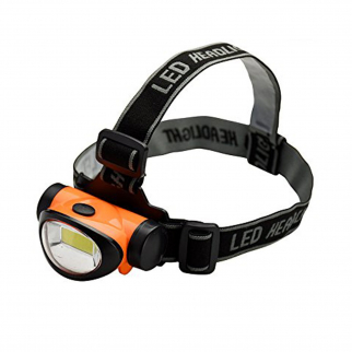 ASR Outdoor 3 Watt Super Bright 200 Lumen COB LED Head Lamp Adjustable - Orange
