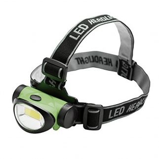 ASR Outdoor 200 Lumen 3 Watt COB LED Head Lamp - Green Angle View