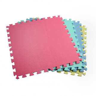 16 Piece Interlocking Square Foam Cushion Floor Mat Set in Assorted Colors