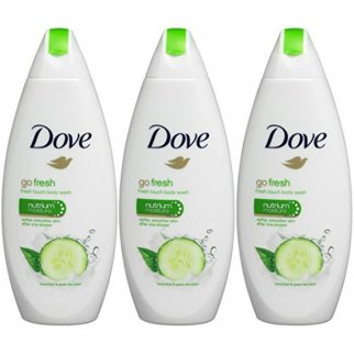 3pk Dove Go Fresh Cool Moisture Cucumber Body Wash