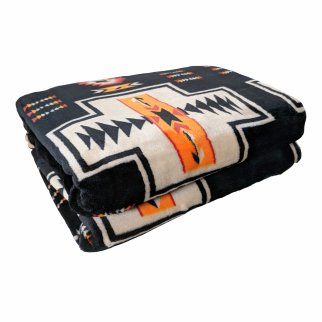 ASR Outdoor Adventure Wilderness Reversible Blanket Southwest Design - Black