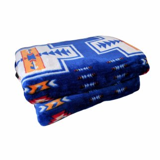 ASR Outdoor Adventure Wilderness Reversible Blanket Southwest Design - Navy Blue