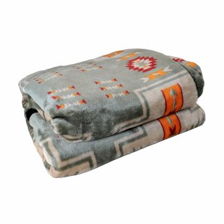 ASR Outdoor Southwest Blanket Reversible Throw - Grey