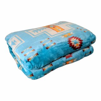 ASR Outdoor Southwest Blanket Reversible Throw - Turquoise