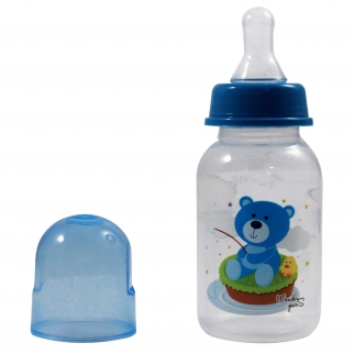 KidPlay 5oz Baby Bottle - Blue Bear Nipple Sippy Cup and Lid