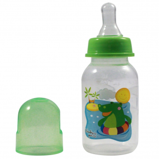 KidPlay Products Infant Baby Bottle 5oz Green Hippo Silicone Nipple Sippy Cup