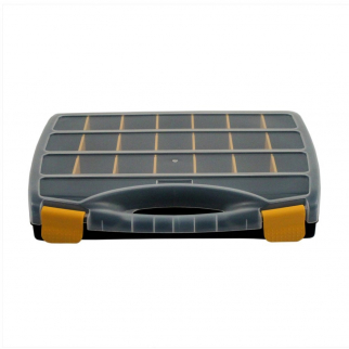 21 Compartment Small Bin Storage Container Locking Lid Portable Case