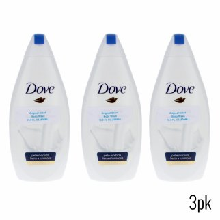 Dove Original Scent Moisturizing Body Wash Lotion 16.9oz 3pk