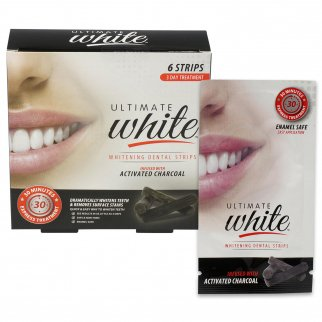 Ultimate White Teeth Whitening Strips with Charcoal 6 Strips