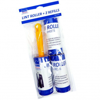 Universal Household Supplies Lint Roller and 2 Refills 10 Sheets Per Roll