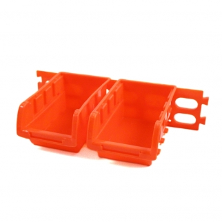 11-Piece Orange Durable Plastic Storage Bins and Wall Mounts Hobby Crafting Home Organizing Set