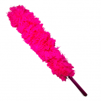 Universal Telescopic Jumbo Flexible Feather Duster Extendable 56In Pink