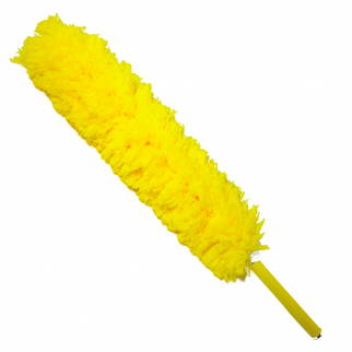 Universal Home Telescopic Jumbo Flexible Feather Duster Extendable 56In Yellow