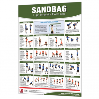 Productive Fitness and Health Instructional Poster Sandbag Workout - Laminated