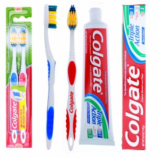 Colgate Fluoride Toothpaste Mint with 2 Toothbrushes