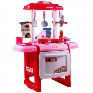 Kidfun Kitchen Oven with Burners, Utensils, Pots, and Pans Pink Main Image